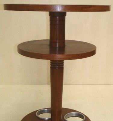 Aluminum And Mahogany Bar Table 1930s