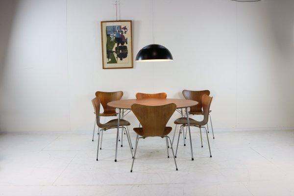 Strange Danish Teak Dining Chairs By Arne Jacobsen For Fritz Hansen 1960S Set Of 6 Lamtechconsult Wood Chair Design Ideas Lamtechconsultcom