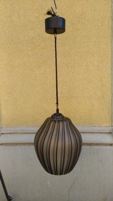 Gl Pendant Lamp By Mimo Vignelli For Venini Murano 1950s
