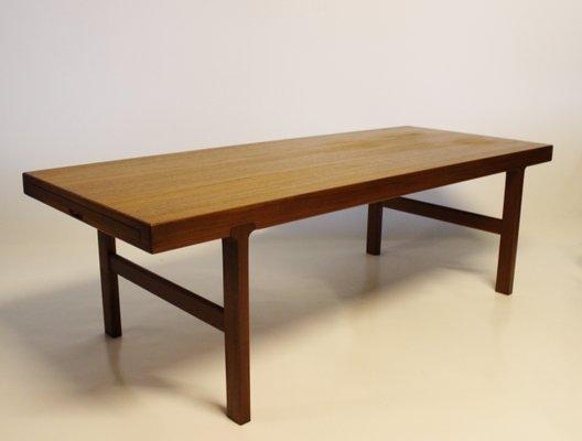 Fine Danish Modern Rosewood Coffee Table With Black Extension Leaf 1960S Inzonedesignstudio Interior Chair Design Inzonedesignstudiocom