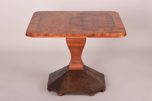 Art Deco Brass And Walnut Veneer Coffee Table 1920s For Sale At Pamono
