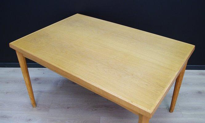 Awesome Mid Century Danish Ash Veneer Dining Table 1960S Download Free Architecture Designs Rallybritishbridgeorg