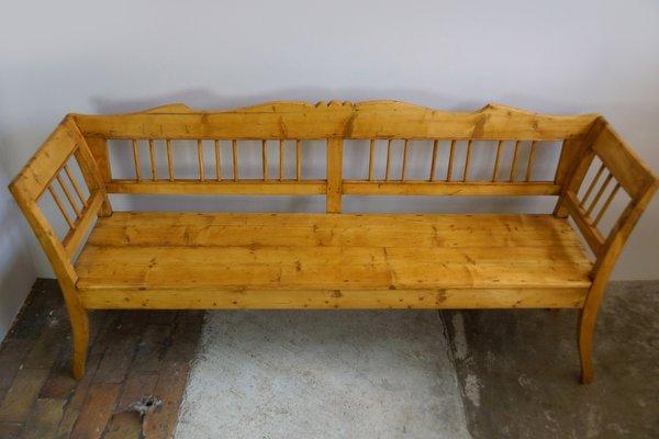 Antique Rustic German Wooden Bench
