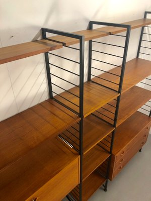 brand new e795a 2a6f1 Vintage Teak and Metal Ladderax Shelving Unit by Robert Heal for Staples,  1970s