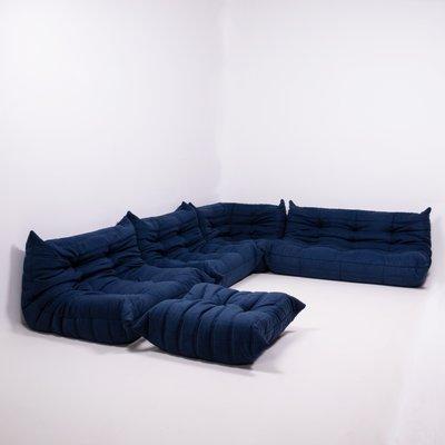 Blue Togo Modular Living Room Set by Michel Ducaroy for Ligne Roset, 1980s