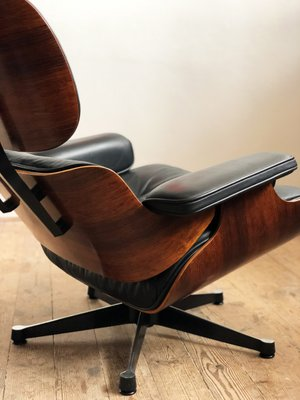 Superb Mid Century Rosewood Lounge Chair By Charles Ray Eames For Vitra Inzonedesignstudio Interior Chair Design Inzonedesignstudiocom