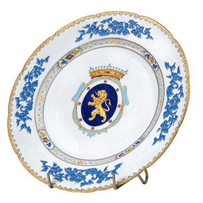 Antique Belgian Porcelain Decorative Plate From Tournay For Sale At Pamono