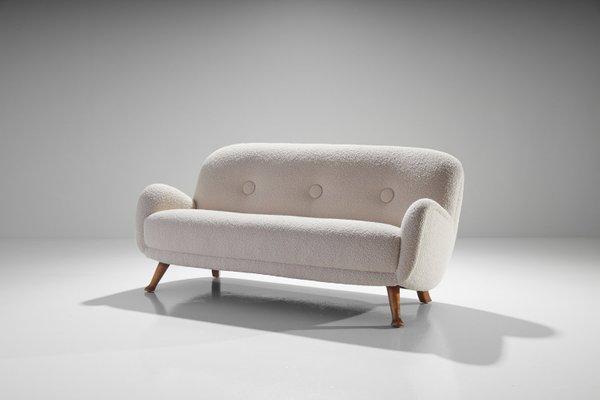 Scandinavian Modern Wooden Sofa by Berga Möbler, 1940s