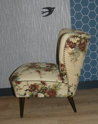 Admirable Mid Century Floral Lounge Chair 1950S Squirreltailoven Fun Painted Chair Ideas Images Squirreltailovenorg