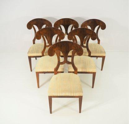 Antique Biedermeier Dining Chairs Set