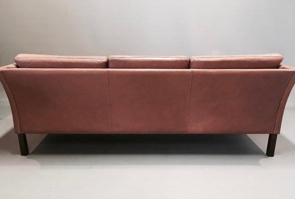 Remarkable Scandinavian Modern Cow Leather Sofa 1970S Ncnpc Chair Design For Home Ncnpcorg