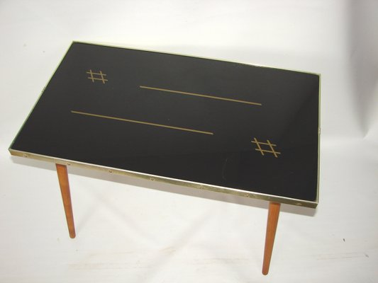 Moderner Couchtisch Aus Glas Holz Im Skandinavischen Stil 1970er