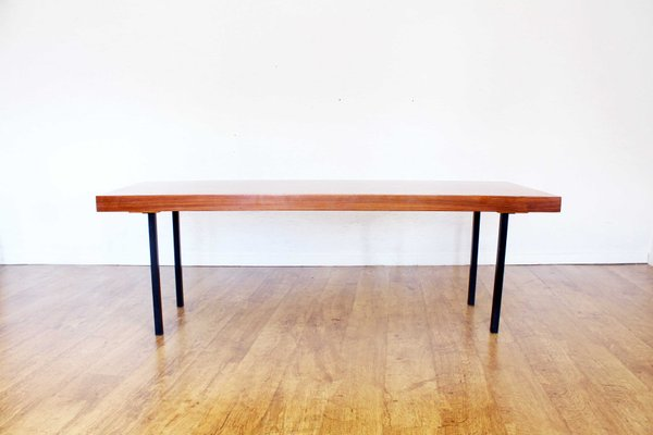 Table Basse Avec Rallonge.Table Basse Scandinave En Metal Et Teck Avec Rallonge 1970s