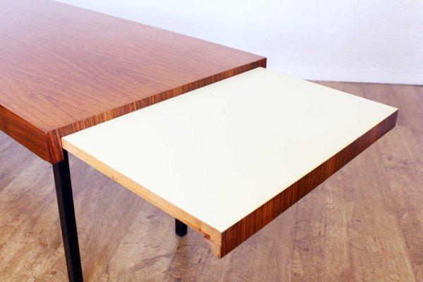 le dernier 950a6 370dd Table Basse Scandinave en Métal et Teck avec Rallonge, 1970s