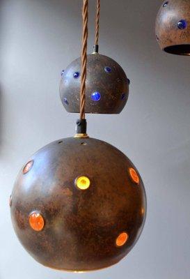lamparas cobre Lmparas Colgantes De Cobre De Nanny Still McKinney Para Raak Aos 60 Juego De 2