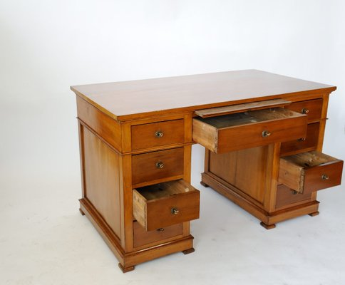 Antique Cherry Wood Desk 1920s For