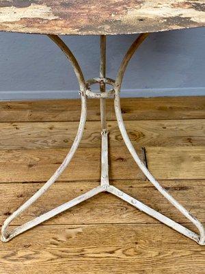 Gusseisen Gartentisch.Antiker Französischer Gartentisch Aus Gusseisen