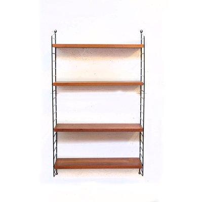 Carved Teak Magic Wardrobe.String Teak Wall Shelf By Kajsa Nils Strinning For String 1960s