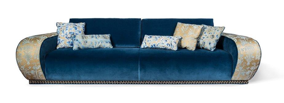 Blue Velvet Sofa By Slow Fashion Design