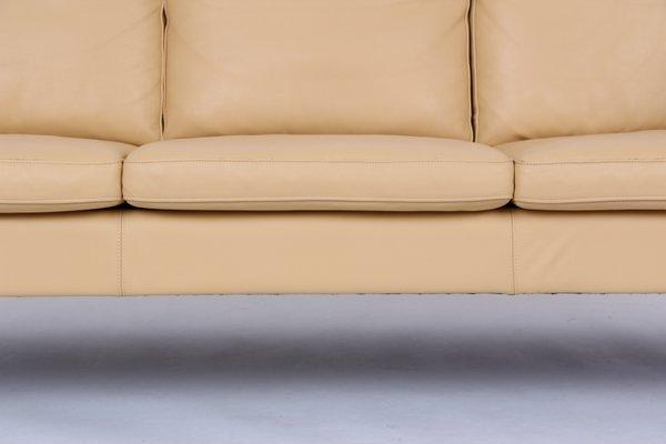 Vintage 3-Seat Leather Sofa by Svend Skipper for Skipper Møbler, 1970s