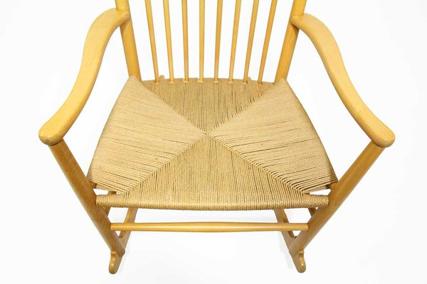 Populære Model J 16 Rocking Chair by Hans J. Wegner for Kvist Møbler A/S KL-42