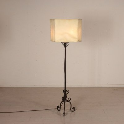 Antique Italian Wrought Iron Floor Lamp