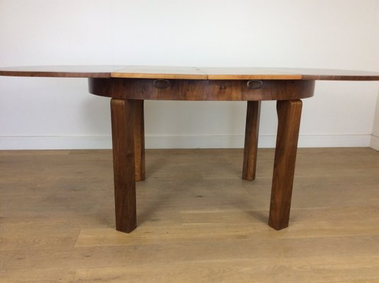 Art Deco Extendable Dining Table 6 Chairs By Jindřich Halabala For Up Závody 1930s