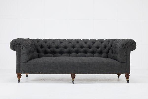 Surprising Antique English Chesterfield Style Sofa Machost Co Dining Chair Design Ideas Machostcouk