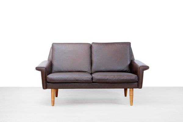 Fine Danish Brown Leather 2 Seater Sofa From Vejen Polstermobelfabrik 1960S Dailytribune Chair Design For Home Dailytribuneorg