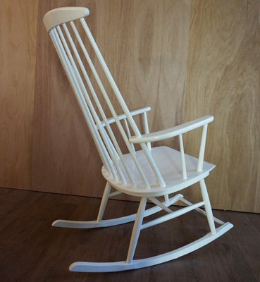 Fabulous Vintage Mademoiselle High Back Rocking Chair By Ilmar Tapiovaara 1950S Home Remodeling Inspirations Genioncuboardxyz