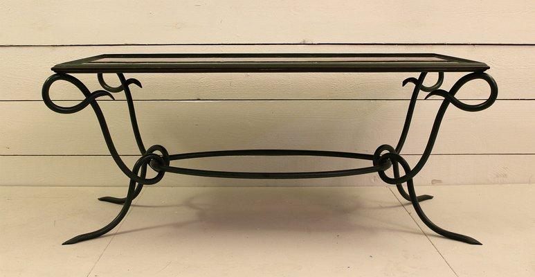 Tavolino da caffè in ferro battuto, anni \'40
