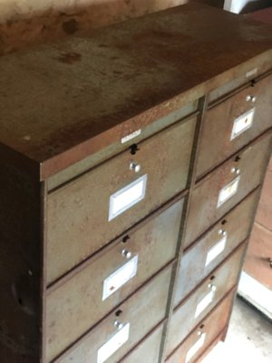 Small Industrial Filing Cabinet From Roneo, 1970s
