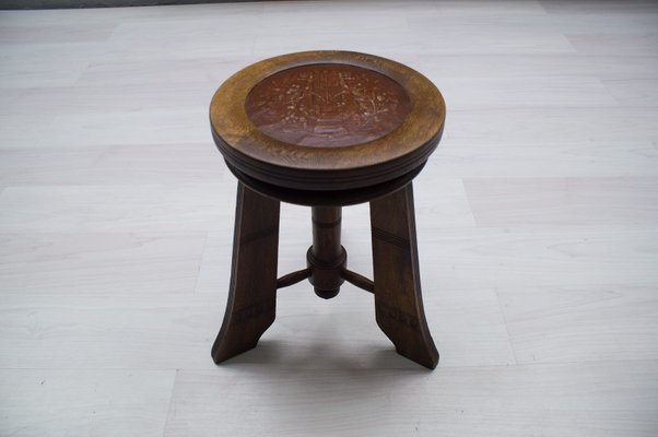 Swell Antique Wooden Piano Stool 1900S Ibusinesslaw Wood Chair Design Ideas Ibusinesslaworg
