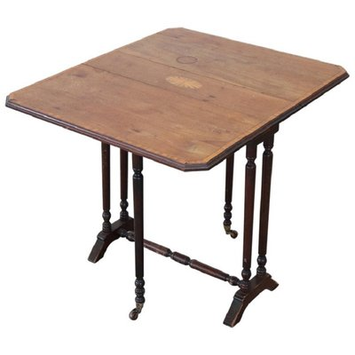 Table Pliante Antique En Bois 1880s