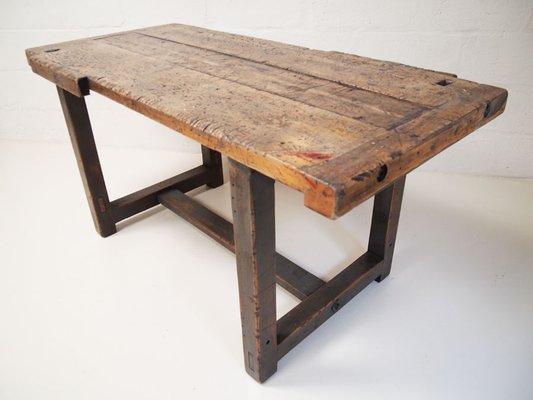 Etabli Ou Table De Salle A Manger Industriel 1950s En Vente Sur