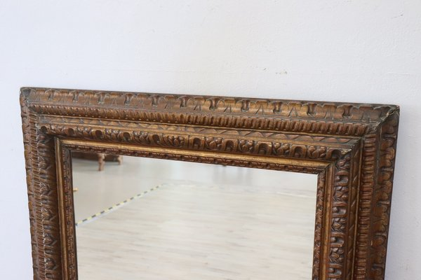 Large Antique Carved Wood Wall Mirror 1880s