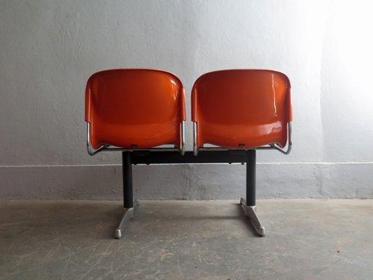 Sedie Acciaio E Plastica.Sedie Da Aeroporto In Plastica E Acciaio Anni 70 Set Di 2 In
