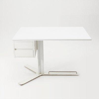 Mid Century Italian White Desk By Antonello Mosca For Sormani 1960s