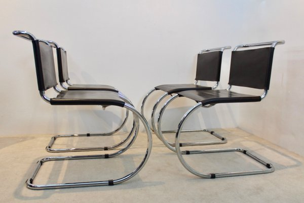 Groovy Chocolate Brown Mr10 Cantilever Chairs By Ludwig Mies Van Der Rohe 1960S Set Of 4 Creativecarmelina Interior Chair Design Creativecarmelinacom