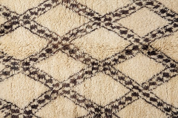 Moroccan Berber Carpet From Beni Ouarain 1990s