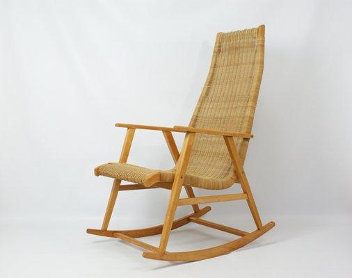 Pleasing Rattan Rocking Chair 1960S Beatyapartments Chair Design Images Beatyapartmentscom