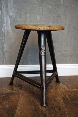 Stupendous German Industrial Metal Wood Stool By Robert Wagner For Rowac 1930S Inzonedesignstudio Interior Chair Design Inzonedesignstudiocom