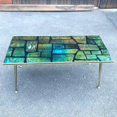 Mid Century Painted Metal Gl Coffee Table 1950s