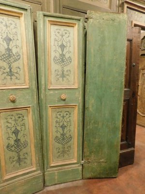 Awesome Antique Italian Hand Painted Green And Yellow Double Doors 1600S Unemploymentrelief Wooden Chair Designs For Living Room Unemploymentrelieforg