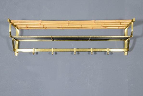Wandgarderobe Messing.Mid Century Wandgarderobe Aus Messing Bambus 1950er