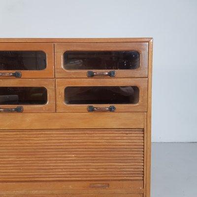 Vintage Oak Haberdashery Chest Of Drawers 1930s
