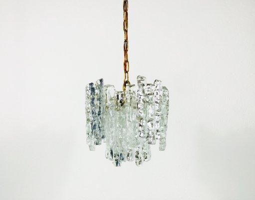 Kalmar Ice Glass Chandelier, 1960s