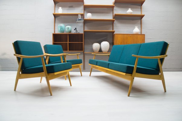 Mid Century Living Room Set In Teal 1967