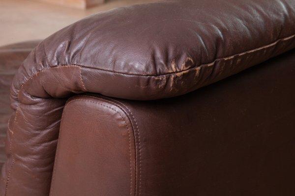 Modular Leather Sofa by Ernst Martin Dettinger for WK Möbel, 1970s, Set of 7