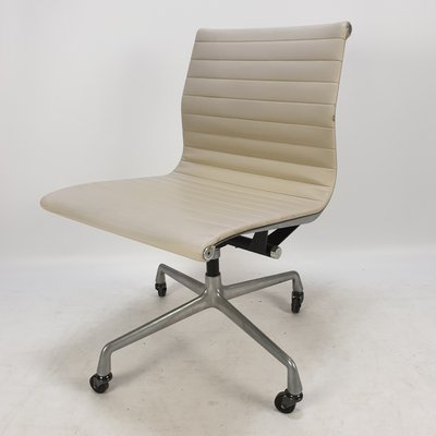 Vintage Aluminum & Skai Swivel Desk Chair by Charles & Ray Eames for Herman  Miller, 1960s